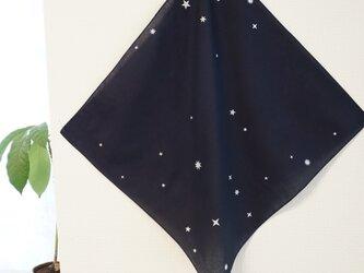 【受注制作】藍染 ハンカチ きらきら星の画像