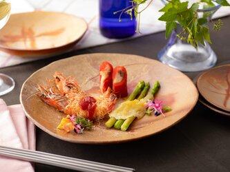 備前焼桃皿(L)耐熱食器(電子レンジ・オーブン対応)の画像