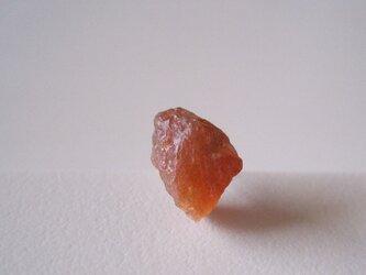 サンストーンの原石ピアス/india 片耳 14kgfの画像