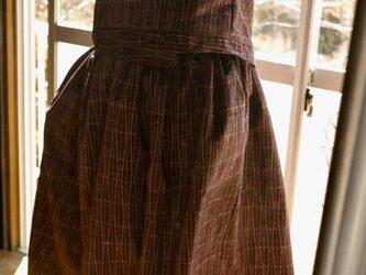 正絹紬着物からセットアップの画像