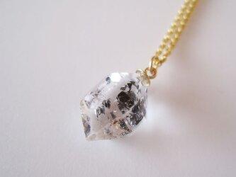 タールインクォーツ水晶の原石ネックレス/Pakistan14kgfの画像