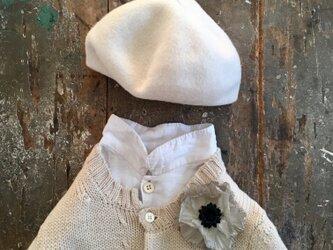 グレージュぽぴぃ。。。suMire-bouquet 布花コサージュの画像