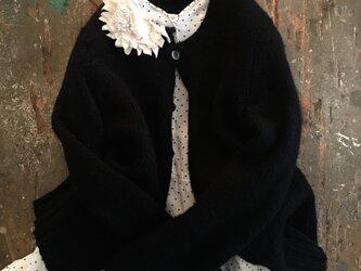 しろ×白のはな。。。suMire-bouquet 布花コサージュの画像