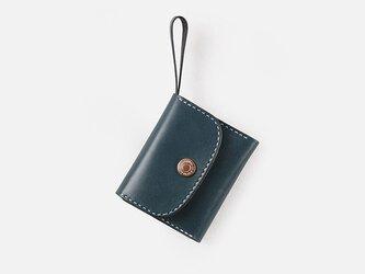 【切線派】本革三つ折り財布 レディース 革 大容量 牛革手縫い収納財布 総手縫いの画像
