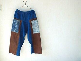 草木染め手織り綿のヤオ・パンツの画像