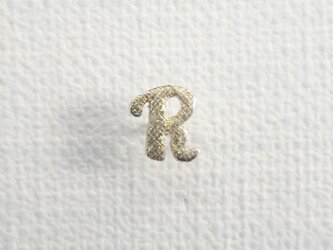 d-NH  -colore-  ピンバッチ・タイタック 「R」  #7811R [ SV925 × K18金箔 ]の画像