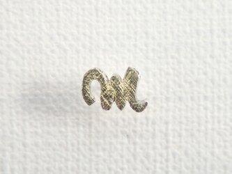d-NH  -colore-  ピンバッチ・タイタック 「M」  #7811M [ SV925 × K18金箔 ]の画像