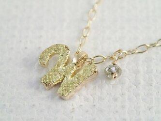 d-NH  -colore-  ネックレス 「W」  #7801W [ K10 × K18金箔 + ダイヤモンド ]の画像