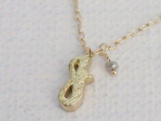 d-NH  -colore-  ネックレス 「J」  #7801J [ K10 × K18金箔 + ダイヤモンド ]の画像