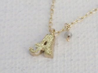 d-NH  -colore-  ネックレス 「A」  #7801A [ K10 × K18金箔 + ダイヤモンド ]の画像