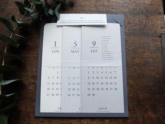 【活版印刷】LETTERPRESS カレンダー 2019の画像