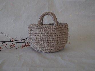 K様オーダー品 裂き編みバッグ(お散歩バッグ)の画像