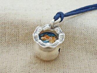 『金魚鉢』の鈴 銀製(シルバー925+レジン)の画像