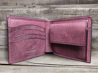 男の本革二つ折り財布 --- 国産牛革ロロマ [プルーニャ]の画像