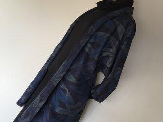 1115    着物リメイク    七分袖ジャケット    十日町紬    草葉模様の画像