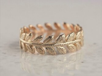 K10 Rose leaf ring {R078K10}の画像