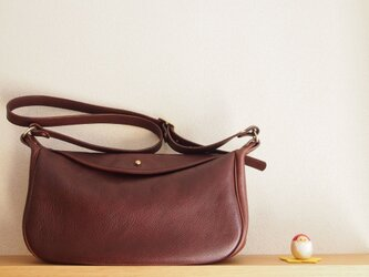 flap shoulder bag  cacao - フラップショルダーバッグ(カカオ)の画像