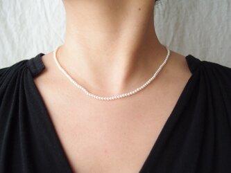 送料無料【k14gf・受注制作】パールネックレス … baby pearl・whiteの画像