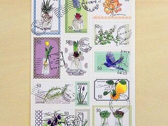 シール 切手風(水栽培)の画像