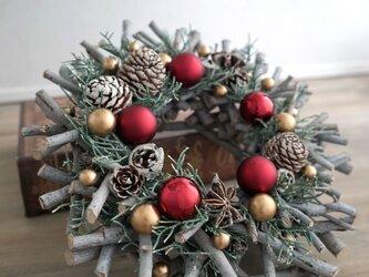 クリスマスリース(0918)~Joyeux Noël~ 23cmの画像