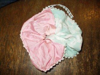 古布シュシュ 綿菓子の画像