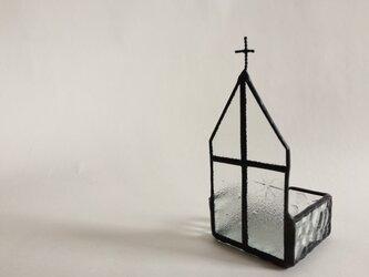 ステンドグラス 教会ジュエリートレイの画像