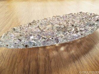 ガラスのアクセサリートレイ - KUBOMI ● ライラック・20cmの画像