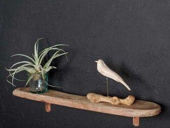 【送料無料】流木の壁掛けシェルフ飾り棚-30の画像