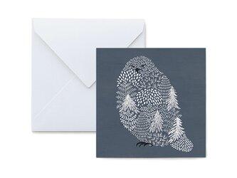 Fluffy メッセージカード Snow owlの画像