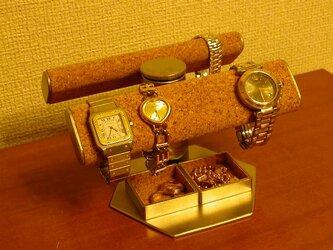 だ円手動式腕時計スタンド★トレイ付き  ※左右に首を振ります IMG47の画像