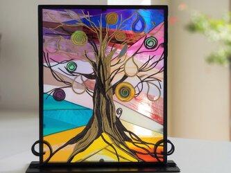 グラスアート  『光の木』の画像