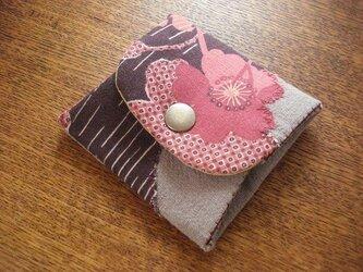 桜アップリケの小銭入れの画像
