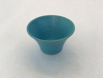 トルコ青マット小鉢の画像