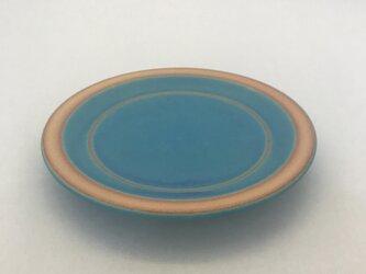 トルコ青マット丸5.5寸皿の画像