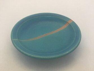 トルコ青マット線5.5寸皿の画像