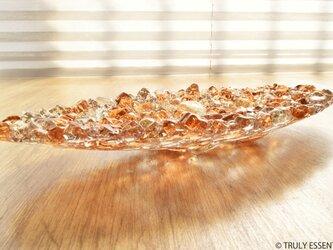 ガラスのアクセサリートレイ - 「 KUBOMI 」● アプリコット・20cmの画像