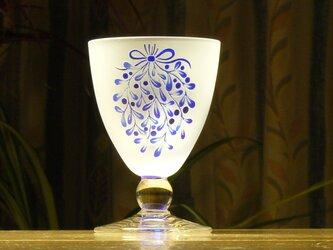 やどり木の 食前酒グラス 青(1個)の画像