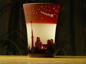 星降るイブの街タンブラー ~冬の星座  赤(1個)の画像