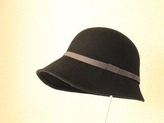 crassic cloche  [wool]  58cm blackの画像