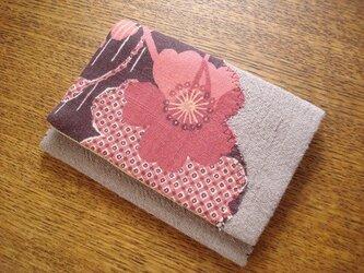 桜アップリケの名刺入れ(カードケース)の画像