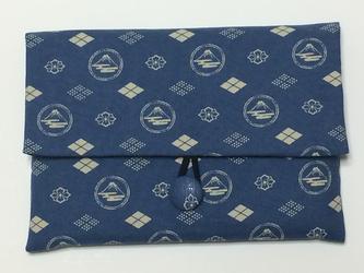 御朱印帳ケース~水色富士紋柄の画像