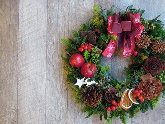 『送料無料』*1 Fresh Xmas Wreath 2018 フレッシュ クリスマス リースの画像