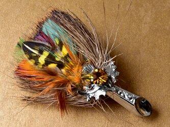 リアルフェザー・ヴィンテージ・ケルトブローチ  羽毛 from Scotland +*北欧アンティークの画像