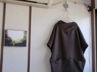 ポッケ付きパーカープルオーバーの画像