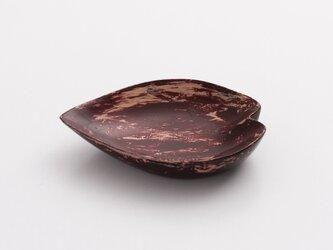 潤漆砥出豆皿(花びらA)の画像