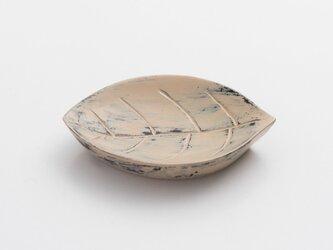 白漆砥出豆皿(葉A)の画像