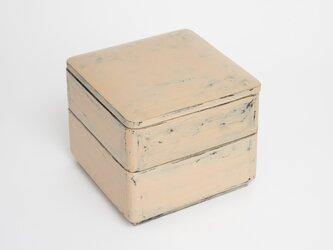白漆砥出二段重箱の画像