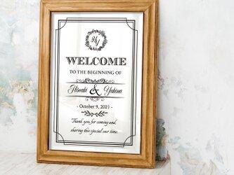 【Elegantイニシャルロゴ】ウェルカムボード 結婚式 ウェディングの画像