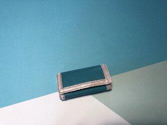 【SALE 送料無料】4連キーケースターコイズシルバー金具の画像
