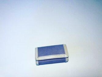 【SALE 送料無料】4連キーケース紫ゴールド金具の画像